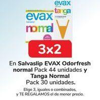 Oferta de En Salvaslip EVAX Odorfresh normal y Tanga Normal por