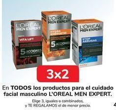 Oferta de En TODOS los productos para el cuidado facial masculino L'OREAL MEN EXPERT por