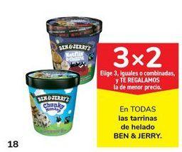 Oferta de En TODAS las tarrinas de helado BEN & JERRY por 3€