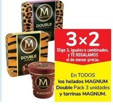 Oferta de En TODOS los helados MAGNUM Double y tarrinas MAGNUM por