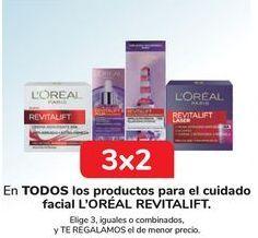 Oferta de En TODOS los productos para el cuidado facial L'OREAL REVITALIFT por