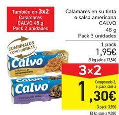Oferta de Calamares en su tinta o salsa americana CALVO por 1,95€