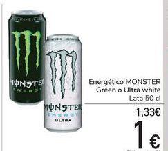 Oferta de Energético MONSTER Green o Ultra white por 1€