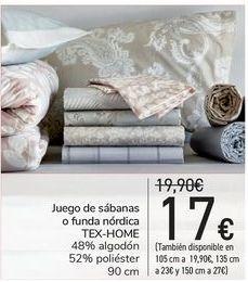 Oferta de Juego de sábanas o funda nórdica TEX-HOME  por 17€