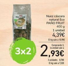 Oferta de Nuez cáscara natural Eco PAÑO FRUIT por 4,39€