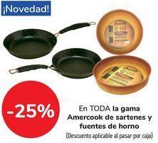 Oferta de En TODA la gama Amercook de sartenes y fuentes de horno  por