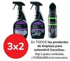 Oferta de En TODOS los productos de limpieza para automóvil Carrefour por