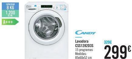 Oferta de Lavadora CSS1282D3S Candy  por 299€