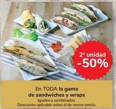 Oferta de En TODA la gama de sandwiches y wraps por