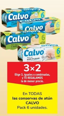 Oferta de En TODAS las conservas de atún CALVO por