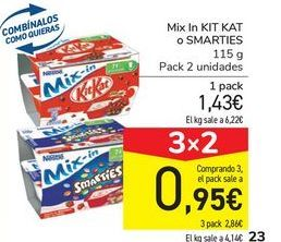 Oferta de Mix In KIT KAT o SMARTIES por 1,43€