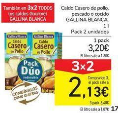Oferta de Caldo Casero de pollo, pescado o cocido GALLINA BLANCA por 3,2€