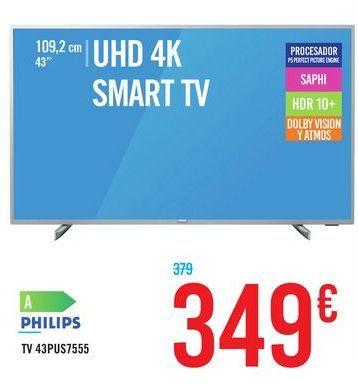 Oferta de Tv 43pus7555 PHILIPS por 349€