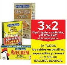 Oferta de En TODOS los caldos en pastillas, sopas sobre y cremas GALLINA BLANCA por
