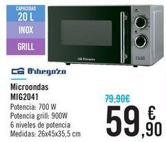 Oferta de Miocroondas MIG2041 Orbegozo  por 59,9€