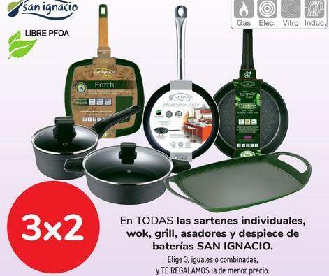 Oferta de En TODAS las sartenes individuales, wok, grill, asadores y despiece de baterías SAN IGNACIO  por