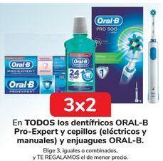 Oferta de En TODOS los dentífricos ORAL-B Pro-Expert y cepillos y enjuagues ORAL-B por