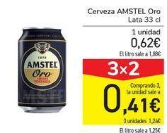 Oferta de Cerveza AMSTEL Oro por 0,62€