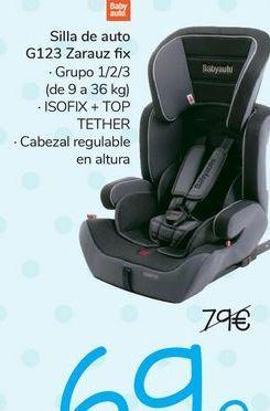 Oferta de Silla de auto G123 Zarauz Fix  por 69€