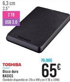 Oferta de Disco duro BASICS TOSHIBA por 65€