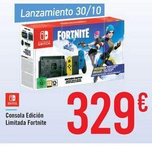 Oferta de Consola Edición Limitada Fornite  por 329€