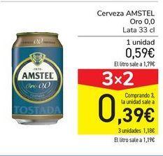 Oferta de Cerveza AMSTEL Oro 0,0 por 0,59€