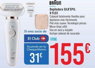 Oferta de Depiladora SILK'EPIL 9 FLEX Braun  por 155€