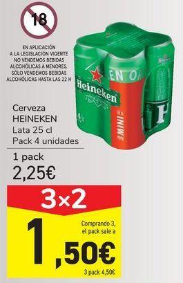 Oferta de Cerveza HEINEKEN por 2,25€