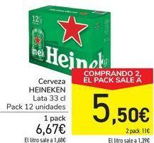Oferta de Cerveza HEINEKEN por 6,67€