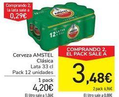 Oferta de Cerveza AMSTEL Clásica por 4,2€