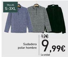 Oferta de Sudadera polar hombre  por 9,99€