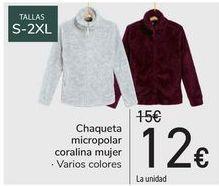 Oferta de Chaqueta micropolar coralina mujer  por 12€