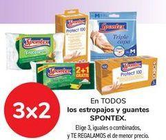 Oferta de En TODOS los estropajos y guantes SPONTEX por