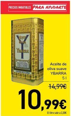 Oferta de Aceite de oliva suave YBARRA por 10,99€
