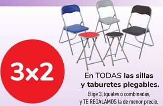 Oferta de En TODAS las sillas y taburetes plegables  por