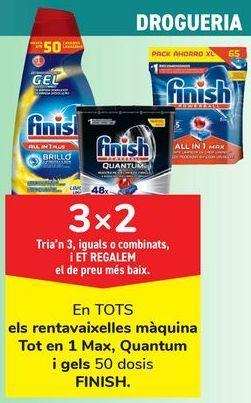 Oferta de En TODOS los lavavajillas máquina Todo en 1 max, Quantum y geles  por