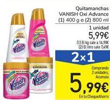 Oferta de Quitamanchas VANISH Oxi Advance por 5,99€