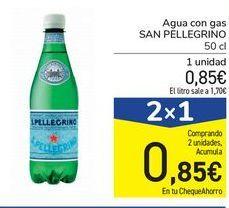 Oferta de Agua con gas SAN PELLEGRINO por 0,85€