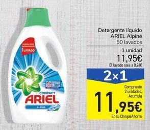 Oferta de Detergente líquido ARIEL Alpine por 11,95€