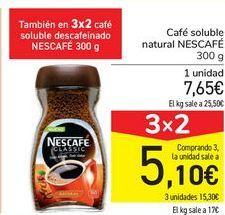 Oferta de Café soluble natural NESCAFÉ  por 7,65€