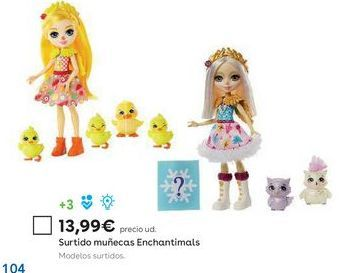 Oferta de Muñecas Enchantimals por 13,99€