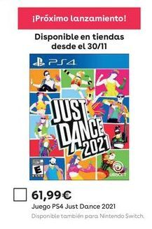 Oferta de Just Dance ps4 por 61,99€