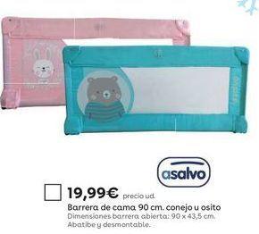 Oferta de Barrera de cama Asalvo por 19,99€