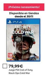 Oferta de Call of Duty ps4 por 79,99€