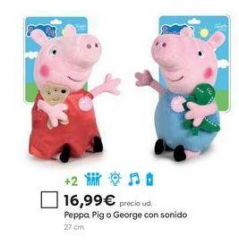 Oferta de Peluche Peppa pig por 16,99€