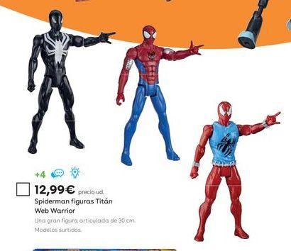 Oferta de Figuras de acción Spiderman por 12,99€