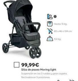 Oferta de Sillas de paseo por 99,99€