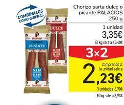 Oferta de Chorizo sarta dulce o picante PALACIOS por 3,35€