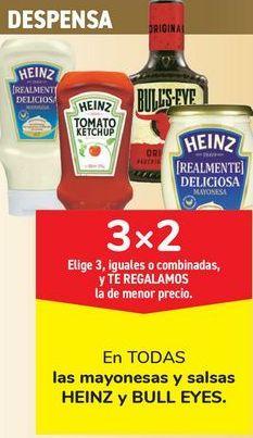 Oferta de En TODAS las mayonesas y salsas HEINZ y BULL EYES por
