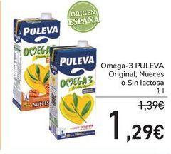 Oferta de Omega-3 Original, Nueces o Sin lactosa PULEVA por 1,29€